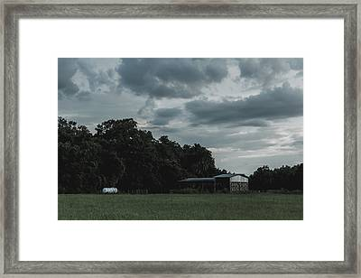 Desaturated Barn Framed Print