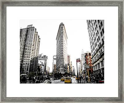 Desaturated New York Framed Print by Nicklas Gustafsson