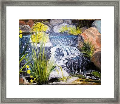 Descanso Waterfall Framed Print by Madeleine Prochazka