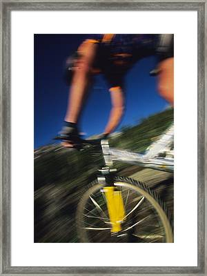 Descending A Mountain Trail Into Yankee Framed Print by Bill Hatcher