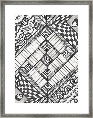 Descent Framed Print by Amy S Turner