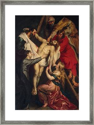 Descent From The Cross Framed Print by Peter Paul Rubens