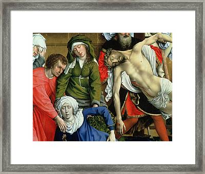 Descent From The Cross Framed Print by Rogier van der Weyden