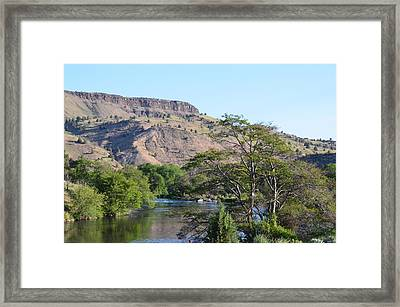 Deschutes River At Trout Creek Framed Print