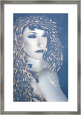 Desdemona Blue - Self Portrait Framed Print