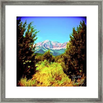 Deseret Peak Framed Print