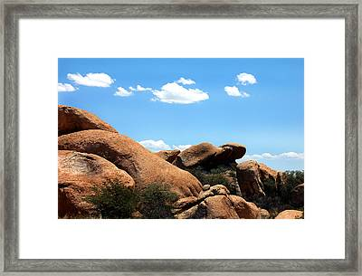 Desert Ancients Framed Print by Heather S Huston