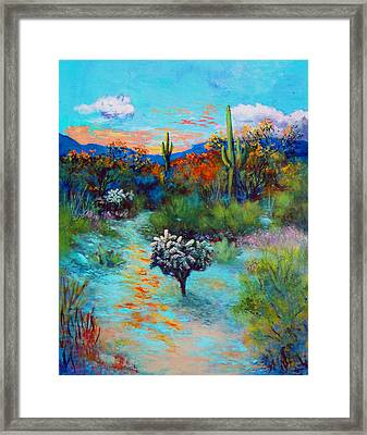 Desert At Dusk Framed Print by M Diane Bonaparte