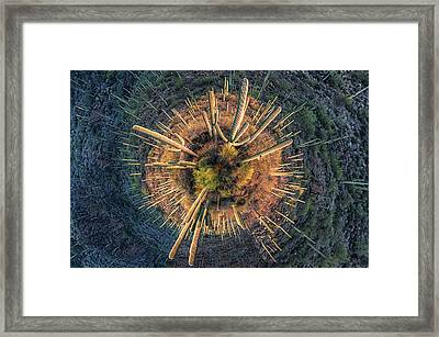 Framed Print featuring the photograph Desert Big Bang by Lynn Geoffroy