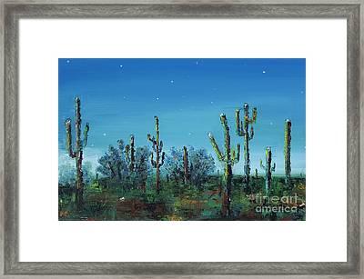 Desert Blue Framed Print by Frances Marino