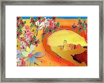 Desert Bridge Framed Print