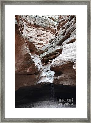 Framed Print featuring the photograph Desert Canyon Stream by Andrea Hazel Ihlefeld