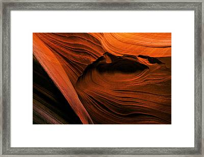 Desert Carvings Framed Print