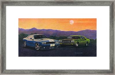 Desert Challengers Framed Print by Norb Lisinski