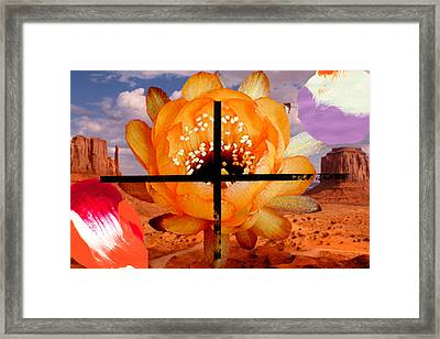Desert Chief Framed Print by Geronimo