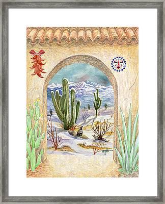 Desert Christmas Framed Print by Marilyn Smith