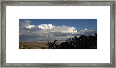 Framed Print featuring the photograph Desert Clouds by Farol Tomson