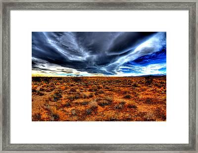 Desert Clouds Framed Print by Tom Melo