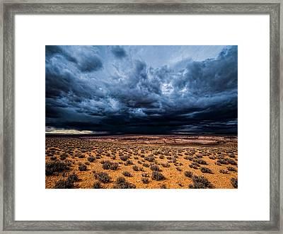 Desert Clouds Framed Print