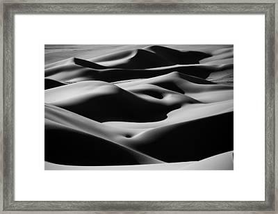 Desert Curves Framed Print