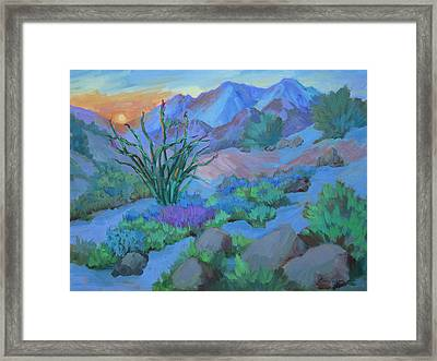 Desert Dawn Framed Print