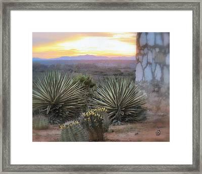 Desert Dawn Framed Print by Kathy Simandl