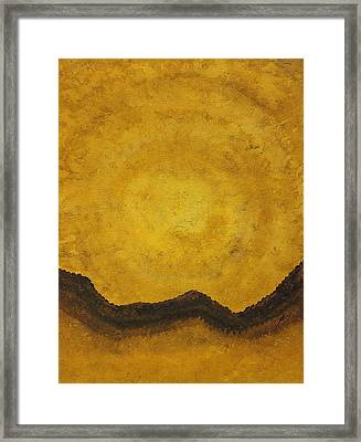 Desert Daybreak Original Painting Framed Print by Sol Luckman