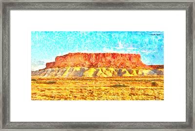 Desert Deck - Da Framed Print
