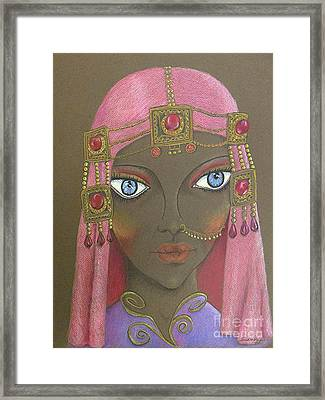 Desert Diva -- Whimsical Arabic Woman Framed Print