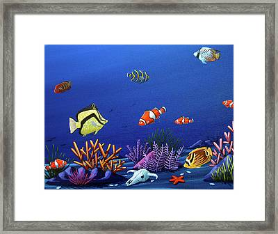 Desert Dolphins Very Close Framed Print by Lance Headlee