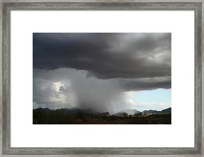 Desert Downpour Framed Print