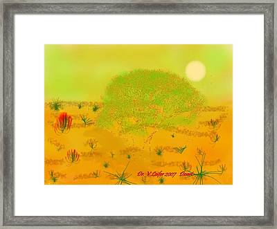 Desert Framed Print by Dr Loifer Vladimir