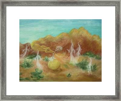Desert Dragon Framed Print by Bernadette Wulf