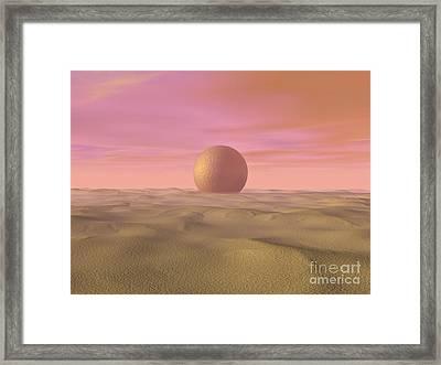 Desert Dream Of Geometric Proportions Framed Print