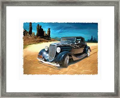 Desert Drive Framed Print by RG McMahon