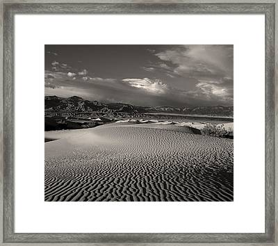 Framed Print featuring the photograph Desert Dunes by Gary Cloud