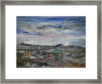 Desert Framed Print by Edward Wolverton