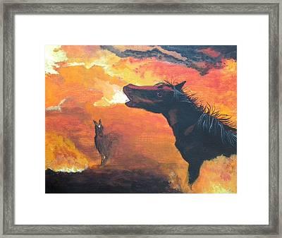 Desert Fire Framed Print