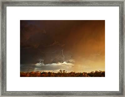 Framed Print featuring the photograph Desert Fire by James Menzies