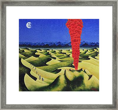 Desert Fire Framed Print by Poul Costinsky
