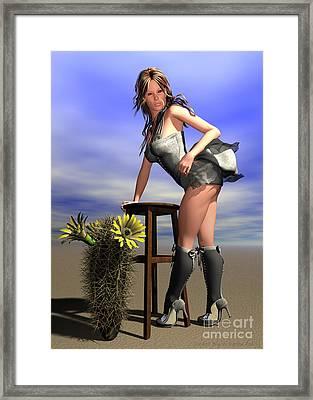 Desert Flower Framed Print by Sandra Bauser Digital Art