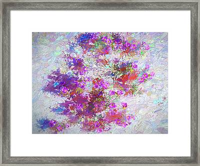 Desert Flowers Abstract 3 Framed Print by Penny Lisowski