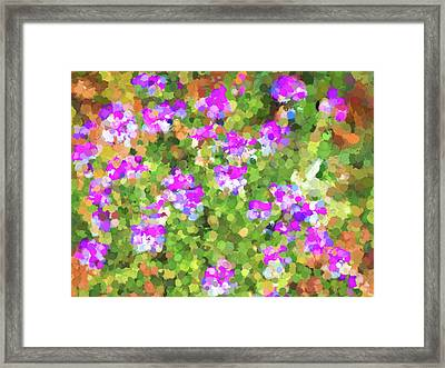 Desert Flowers In Abstract Framed Print by Penny Lisowski