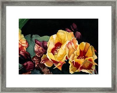 Desert Flowers Framed Print by Patricia Halstead
