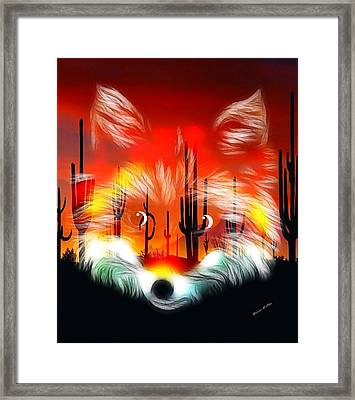 Desert Fox Pup Framed Print by Madeline  Allen - SmudgeArt