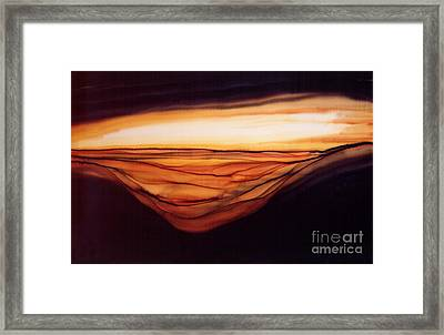 Desert Glow Framed Print by Addie Hocynec