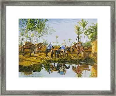Desert Gold Framed Print by Christopher Oakley