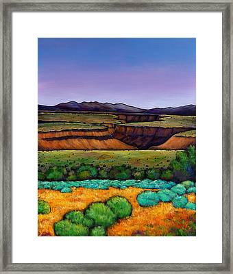 Desert Gorge Framed Print by Johnathan Harris