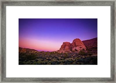 Desert Grape Rock Framed Print