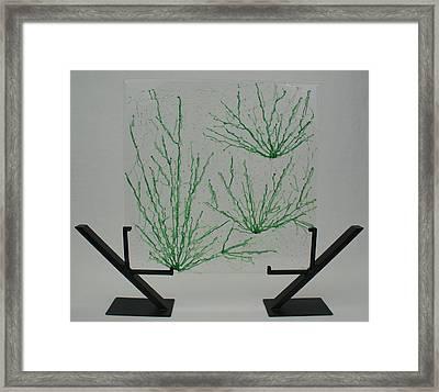 Desert Grass Framed Print by Louis Copper